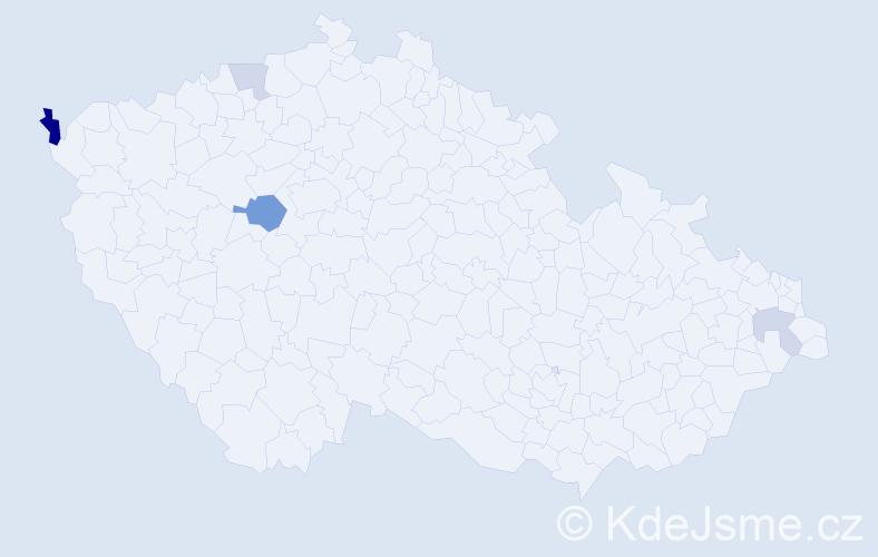 Příjmení: 'Jasík', počet výskytů 8 v celé ČR