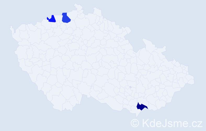 Příjmení: 'Ivkovićová', počet výskytů 5 v celé ČR