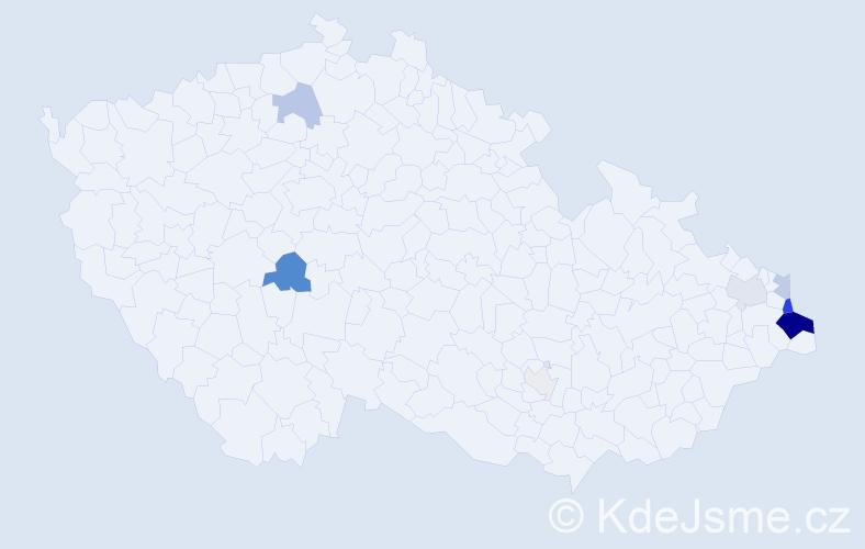 Příjmení: 'Chwastková', počet výskytů 31 v celé ČR