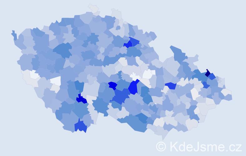 Příjmení: 'Jaroš', počet výskytů 4542 v celé ČR