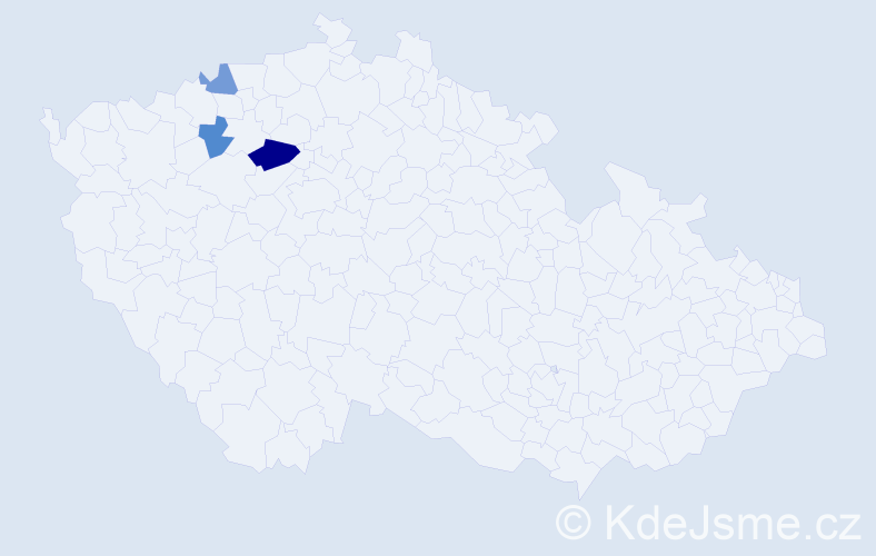 Příjmení: 'Fivébrová', počet výskytů 5 v celé ČR