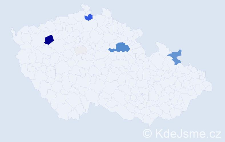 Příjmení: 'Čičman', počet výskytů 13 v celé ČR