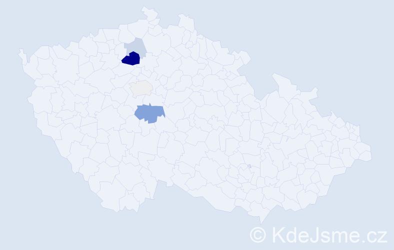 Příjmení: 'Černosta', počet výskytů 12 v celé ČR