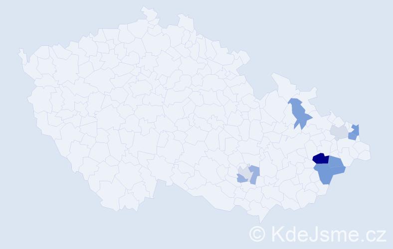 Příjmení: 'Čampová', počet výskytů 15 v celé ČR