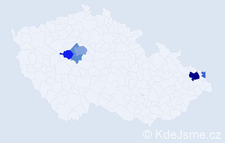 Příjmení: 'Kolowratová', počet výskytů 12 v celé ČR