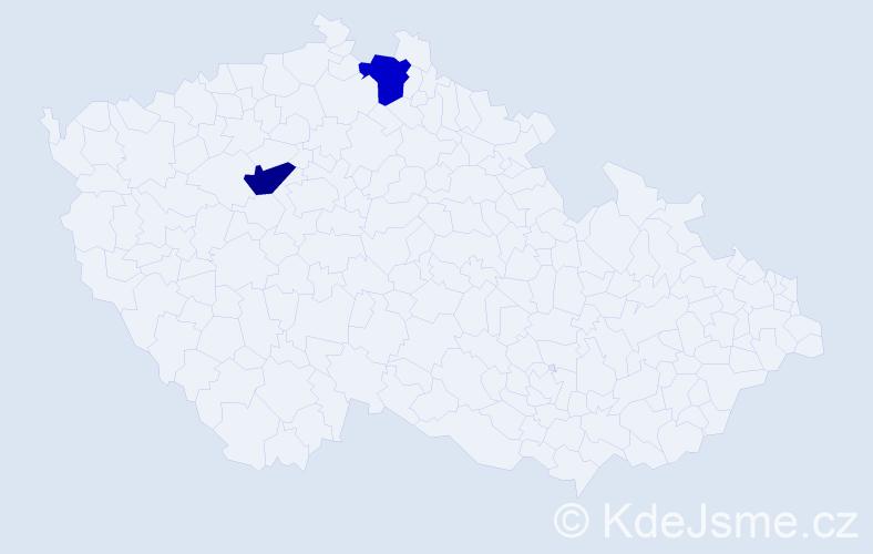 Příjmení: 'Jarábová', počet výskytů 4 v celé ČR