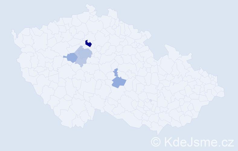 Příjmení: 'Čumrda', počet výskytů 14 v celé ČR