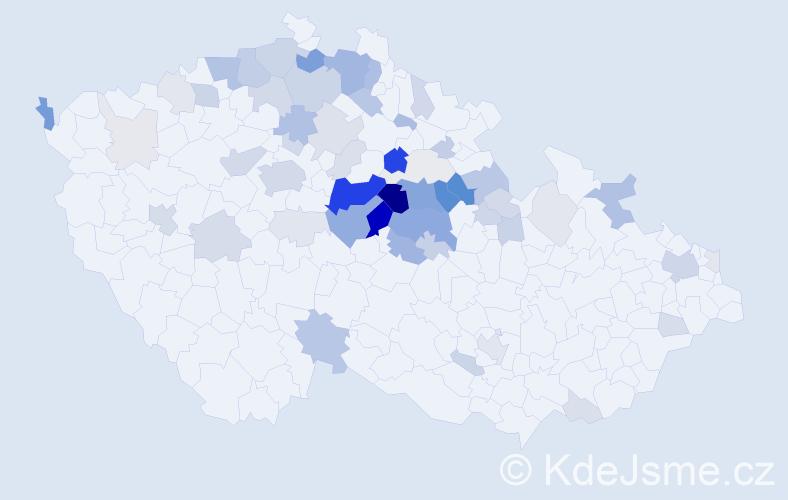 Příjmení: 'Forštová', počet výskytů 211 v celé ČR