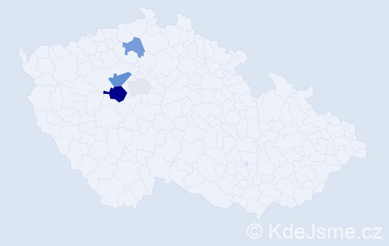 Příjmení: 'Bungová', počet výskytů 7 v celé ČR