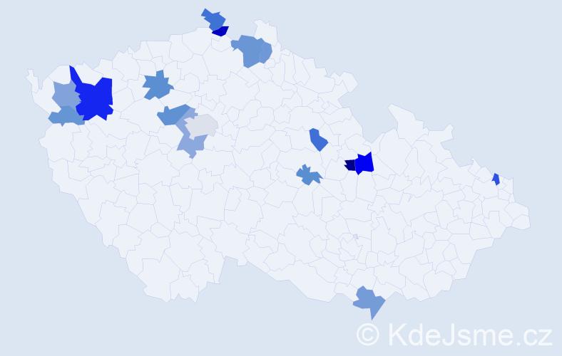 Příjmení: 'Baranovská', počet výskytů 40 v celé ČR