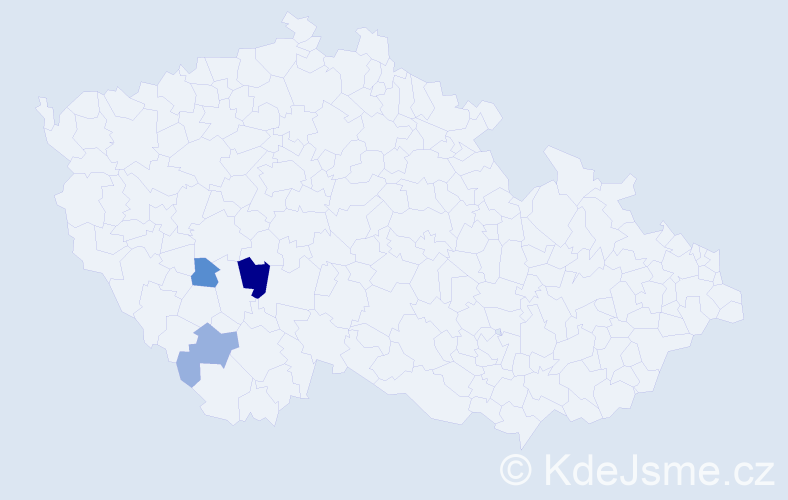 Příjmení: 'Iglauer', počet výskytů 5 v celé ČR