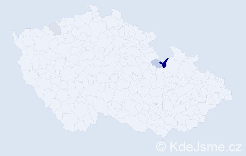 Příjmení: 'Baranowski', počet výskytů 5 v celé ČR