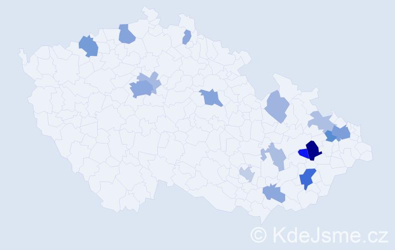 Příjmení: 'Evans', počet výskytů 40 v celé ČR