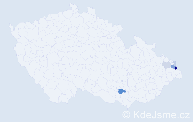 Příjmení: 'Gaborčíková', počet výskytů 12 v celé ČR