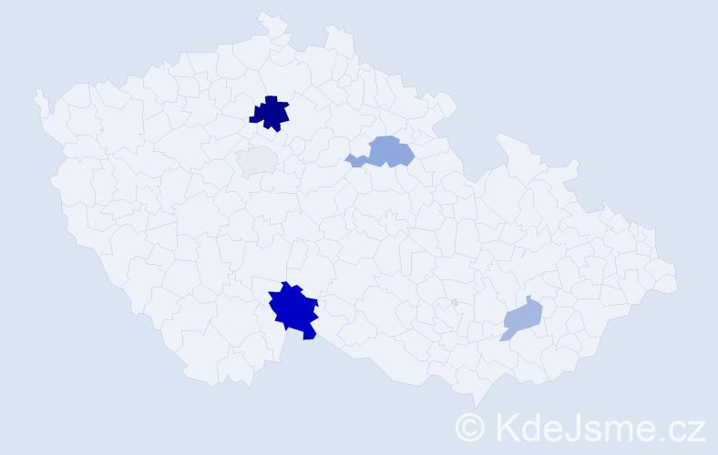 Příjmení: 'Ištvánik', počet výskytů 12 v celé ČR