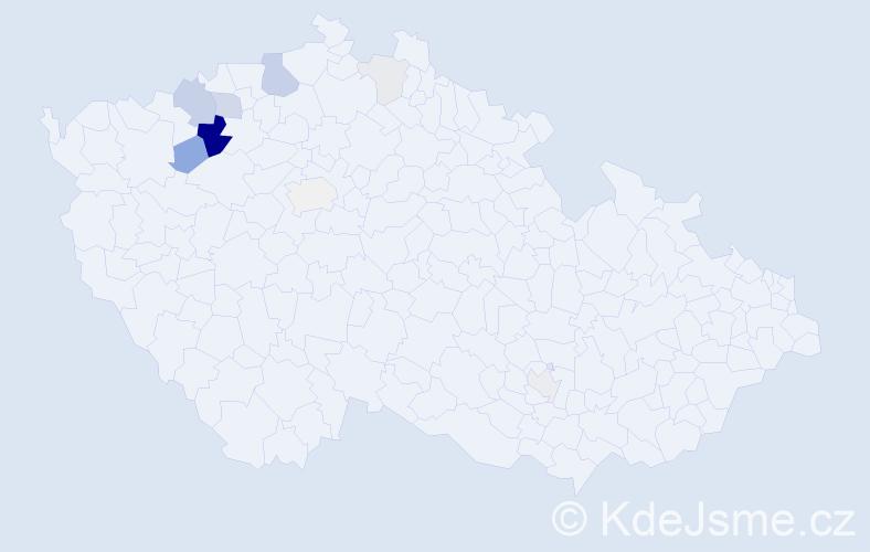 Příjmení: 'Kadet', počet výskytů 35 v celé ČR