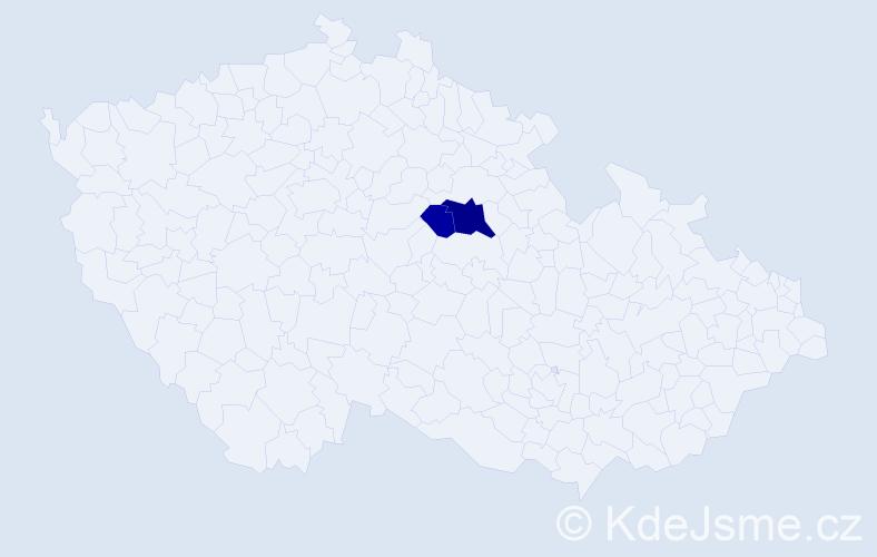 Příjmení: 'Magušin', počet výskytů 5 v celé ČR