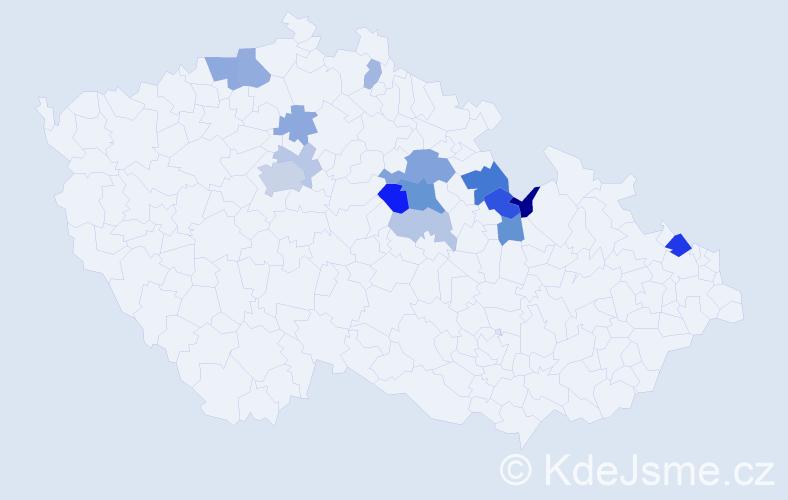 Příjmení: 'Filáček', počet výskytů 32 v celé ČR