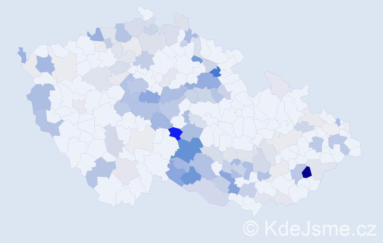 Příjmení: 'Kalendová', počet výskytů 459 v celé ČR
