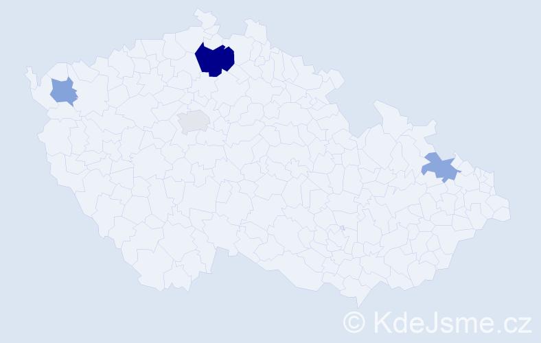 Příjmení: 'Jurus', počet výskytů 7 v celé ČR
