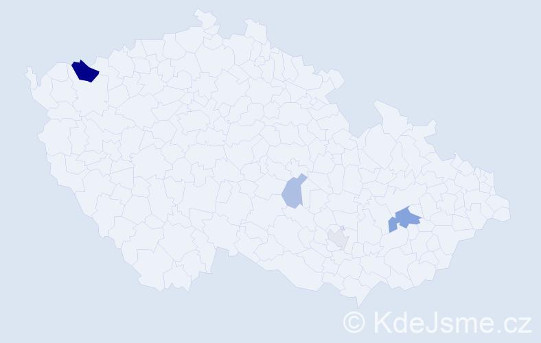 Příjmení: 'Bunčová', počet výskytů 10 v celé ČR
