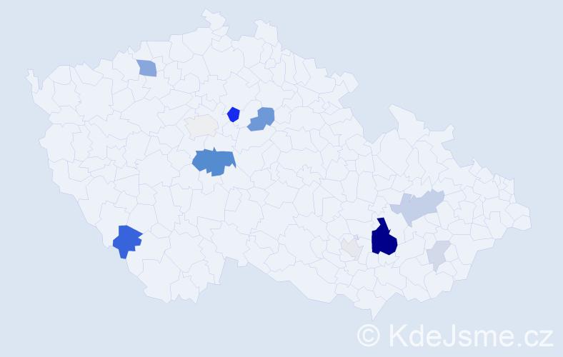 Příjmení: 'Haizlerová', počet výskytů 30 v celé ČR