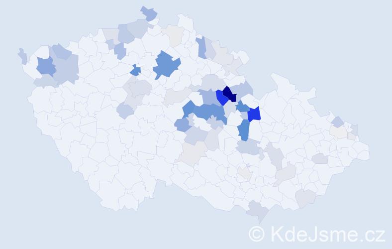 Příjmení: 'Johanides', počet výskytů 177 v celé ČR