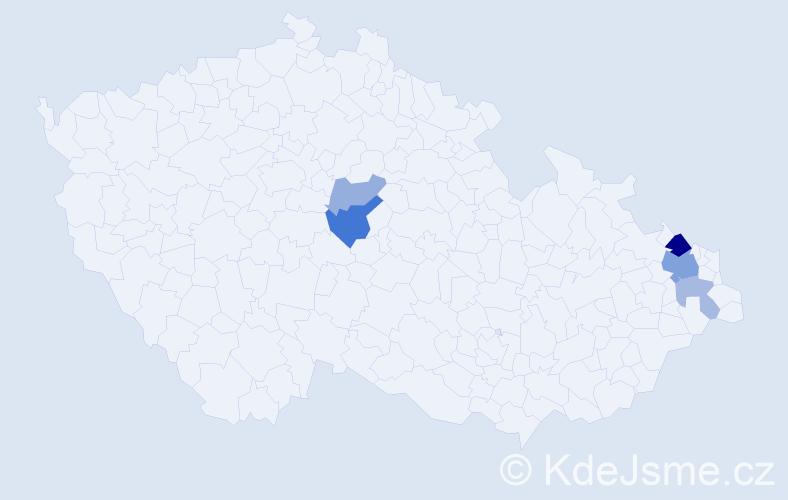 Příjmení: 'Holonová', počet výskytů 11 v celé ČR