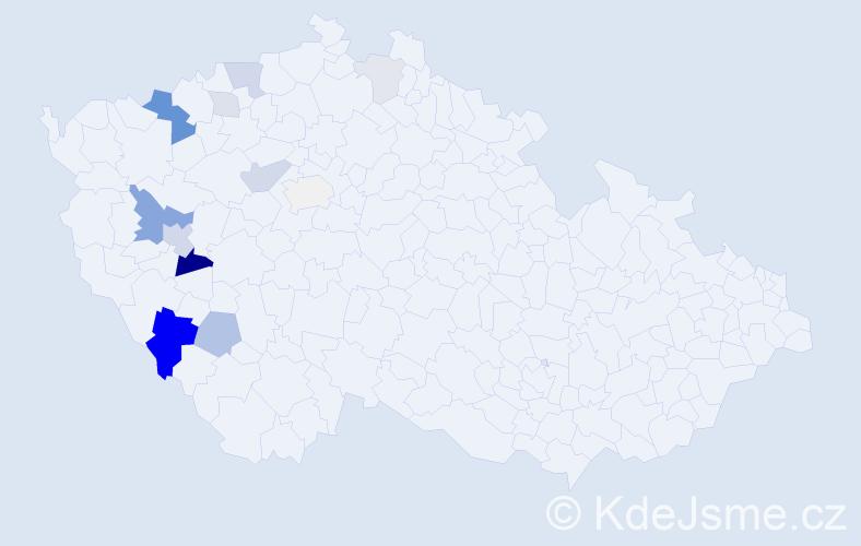 Příjmení: 'Hammerbauerová', počet výskytů 33 v celé ČR