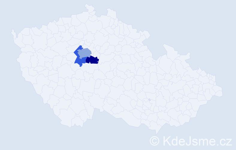 Příjmení: 'Durňák', počet výskytů 9 v celé ČR