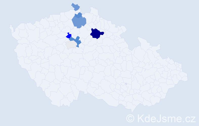 Příjmení: 'Firyt', počet výskytů 14 v celé ČR