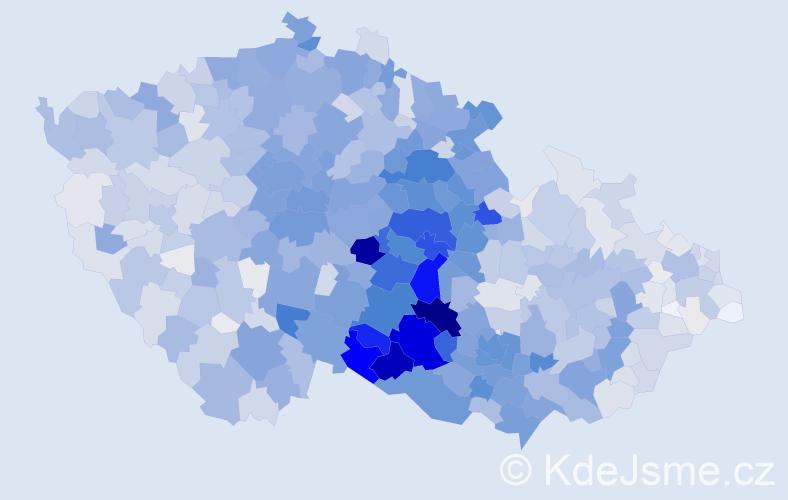 Příjmení: 'Doležal', počet výskytů 8790 v celé ČR