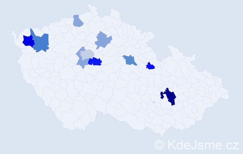 Příjmení: 'Duplinská', počet výskytů 20 v celé ČR
