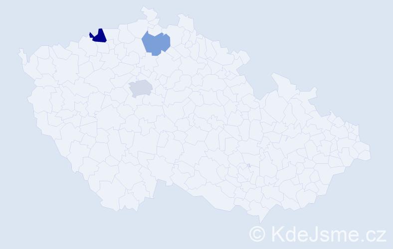 Příjmení: 'Ihnátková', počet výskytů 5 v celé ČR