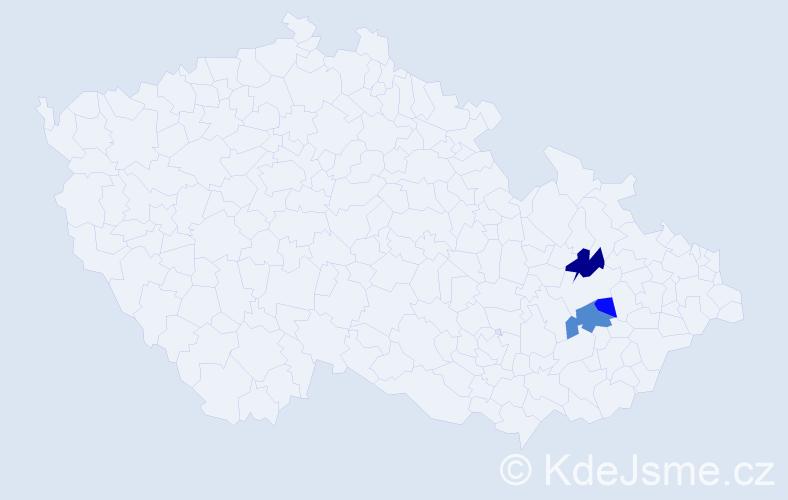 Příjmení: 'Gadaczová', počet výskytů 6 v celé ČR