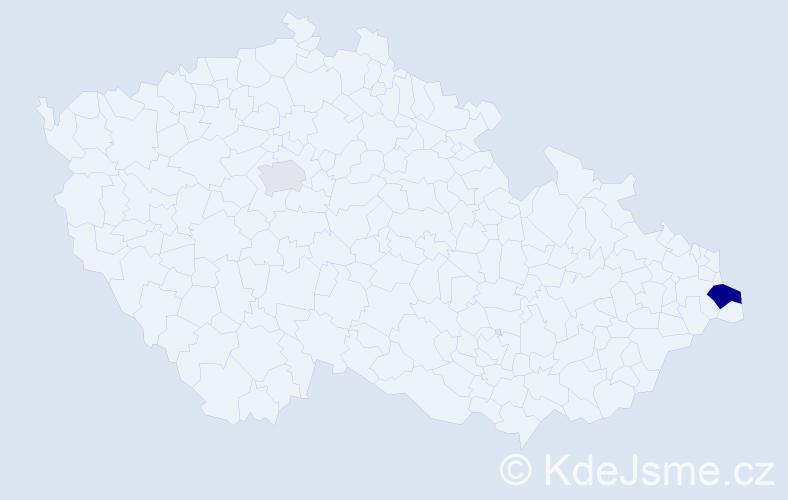 Příjmení: 'Kaczorowská', počet výskytů 4 v celé ČR