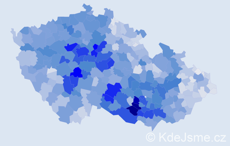 Příjmení: 'Procházka', počet výskytů 15952 v celé ČR