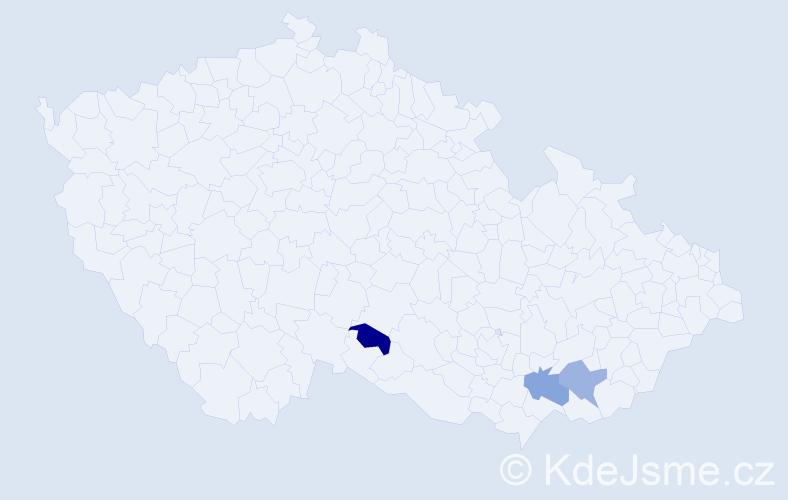 Příjmení: 'Díkovský', počet výskytů 3 v celé ČR