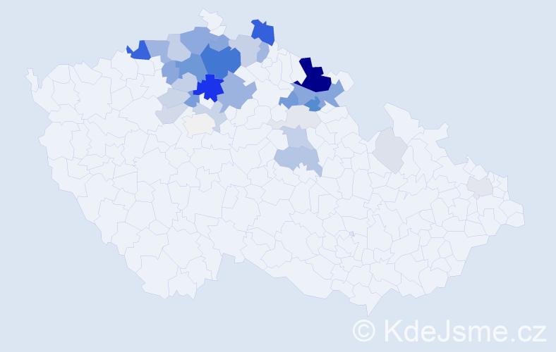 Příjmení: 'Eflerová', počet výskytů 125 v celé ČR