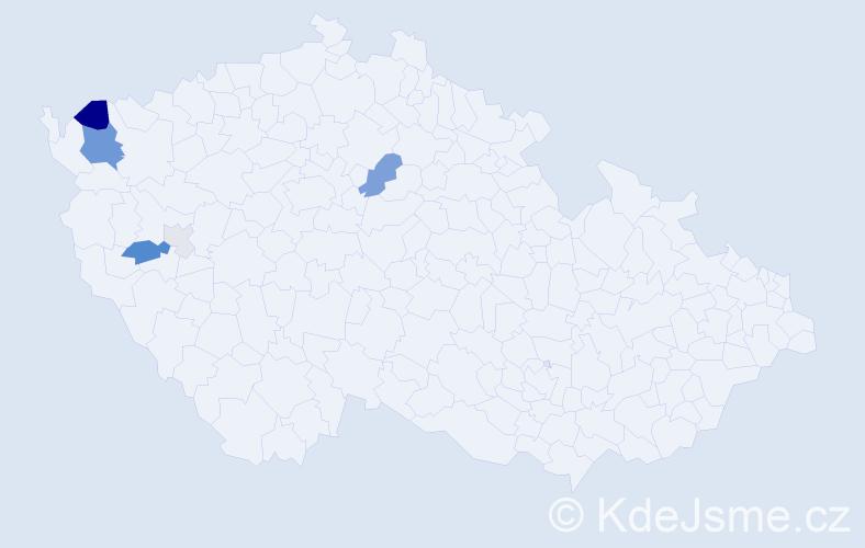 Příjmení: 'Hergeth', počet výskytů 18 v celé ČR