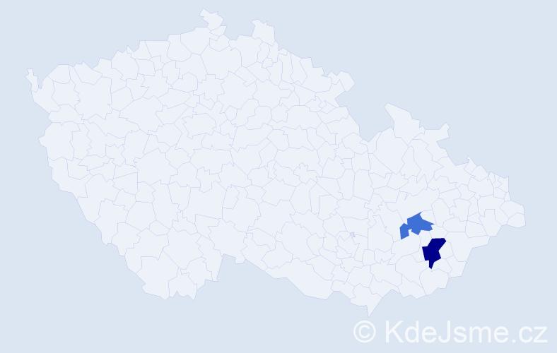Příjmení: 'Janiška', počet výskytů 3 v celé ČR
