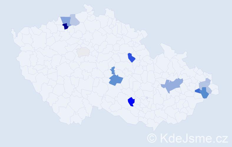 Příjmení: 'Elischer', počet výskytů 16 v celé ČR