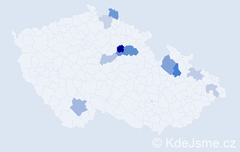 Příjmení: 'Gonšenicová', počet výskytů 17 v celé ČR