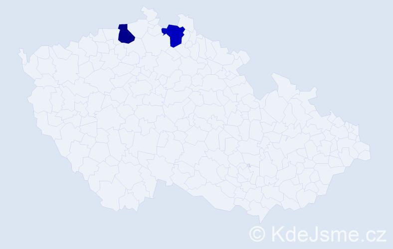Příjmení: 'Czujko', počet výskytů 2 v celé ČR