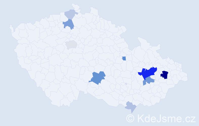 Příjmení: 'Chlapík', počet výskytů 31 v celé ČR