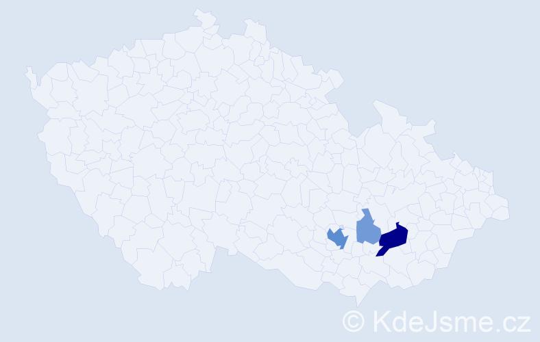 Příjmení: 'Ledina', počet výskytů 11 v celé ČR