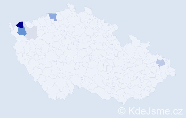 Příjmení: 'Gitter', počet výskytů 24 v celé ČR