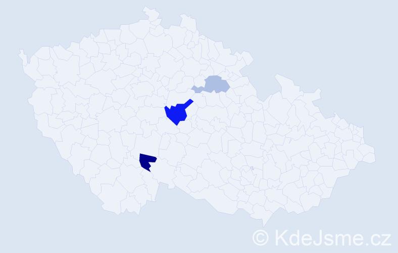 Příjmení: 'Eberhartová', počet výskytů 10 v celé ČR