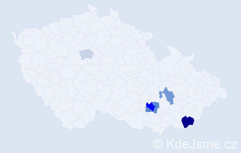 Příjmení: 'Graffová', počet výskytů 13 v celé ČR