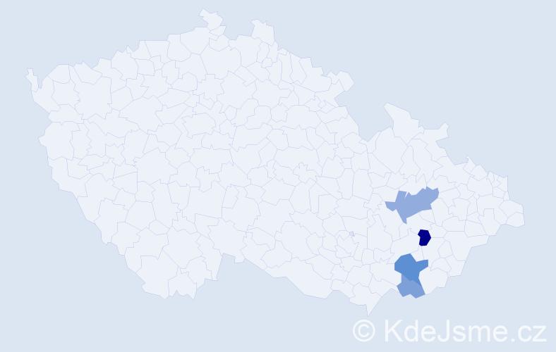 Příjmení: 'Chladníček', počet výskytů 8 v celé ČR